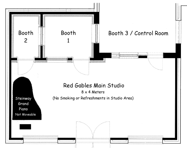 Recording Studio at Red Gables - Floor Plan